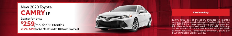 New 2020 Toyota Camry LE | Lease