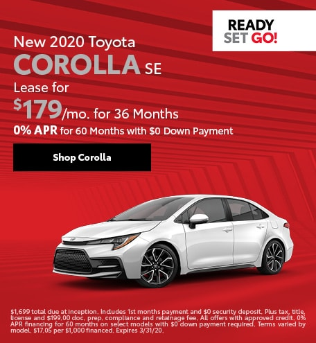 New 2020 Toyota Corolla SE | Lease or Finance Offer