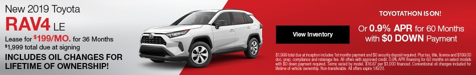 New 2019 Toyota RAV4 Lease Offer