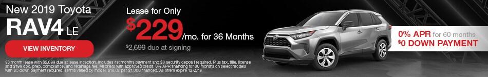 New 2019 Toyota RAV4 LE | Lease