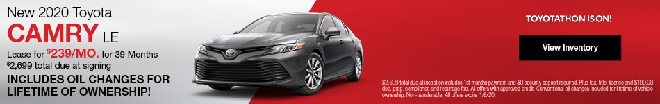 New 2020 Toyota Camry Lease Offer