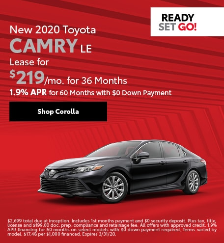 New 2020 Toyota Camry | Lease or Finance