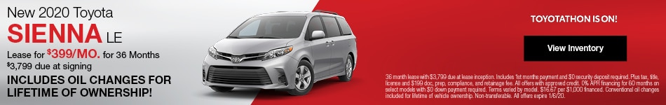 New 2020 Toyota Sienna Lease Offer