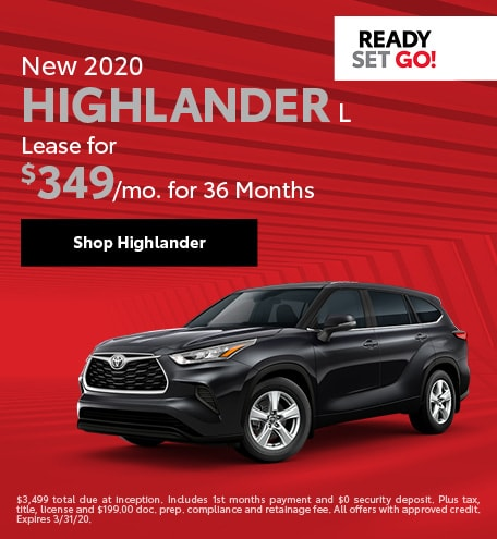 New 2020 Toyota Highlander | Lease Offer
