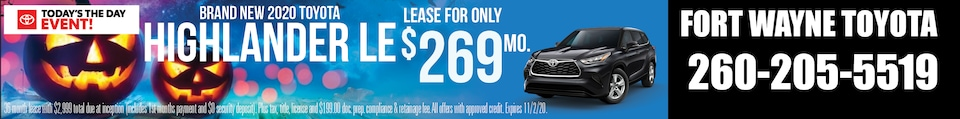Brand New 2020 Toyota HIGHLANDER L
