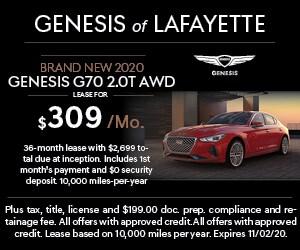 Brand New 2020 Genesis G70 2.0T AWD