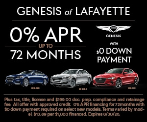 0% APR for 72 Months with $0 Down Payment