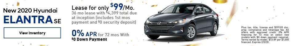 2020 Hyundai Elantra - Lease
