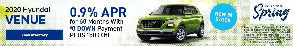2020 Hyundai Venue - 0.9% APR