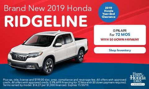 Brand New 2019 Honda Ridgeline