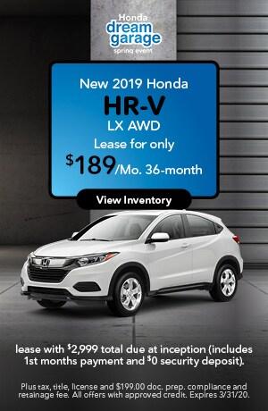 2019 Honda HR-V LX - Lease Offer