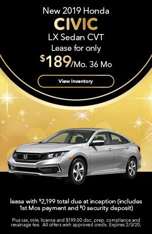 2019 Honda Civic - Lease