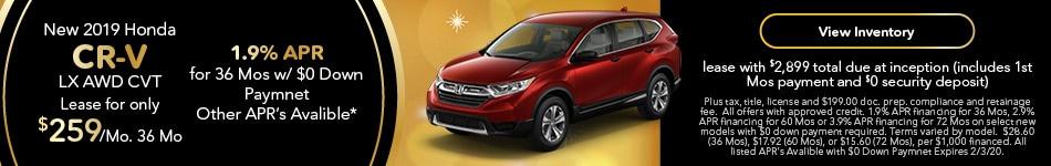 2019 Honda CR-V - Lease & 1.9% APR