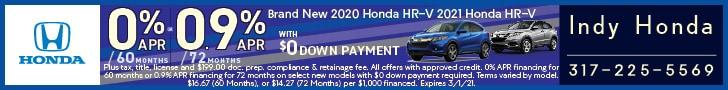 Brand New 2020 or 2021 Honda HR-V