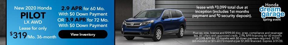 2020 Honda Pilot LX - Lease Offer