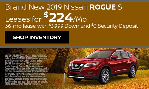 Brand New 2019 Nissan Rogue S