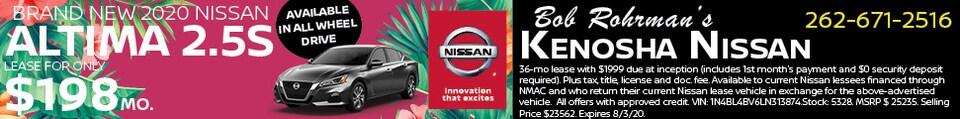 Brand New 2020 Nissan ALTIMA 2.5S