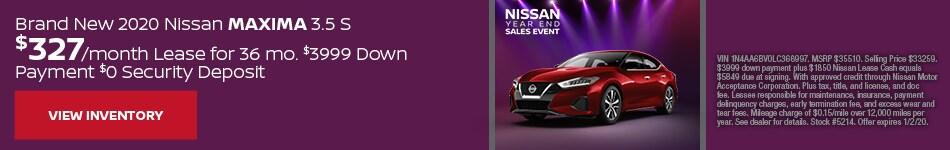 Brand New 2020 Nissan Maxima 3.5 S