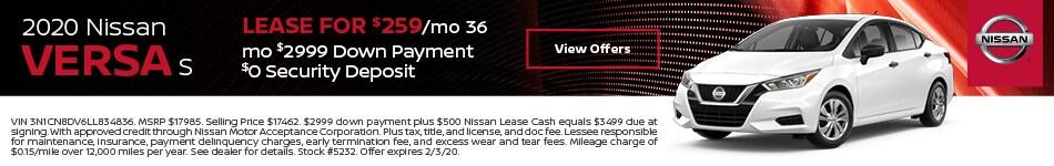 2020 Nissan Versa - Lease