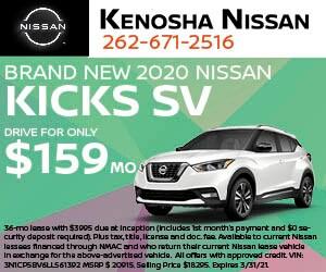 Brand New 2020 Nissan KICKS SV HATCH