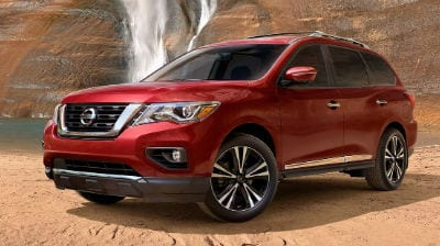 Red 2019 Nissan Pathfinder