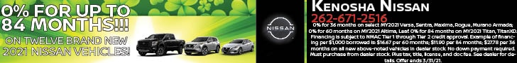 0% FOR UP TO 84 MONTHS (large) ON Brand New 2021 NISSANS!