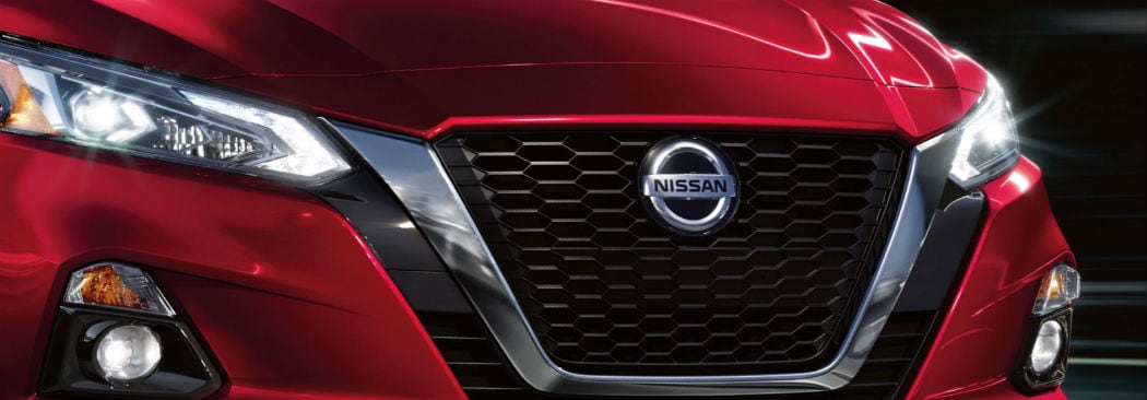 Front of a New Nissan Altima