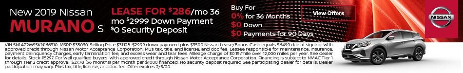 2019 Nissan Murano - Lease