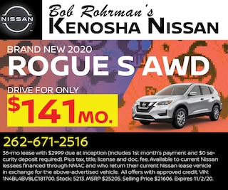Brand New 2020 Nissan ROGUE S AWD