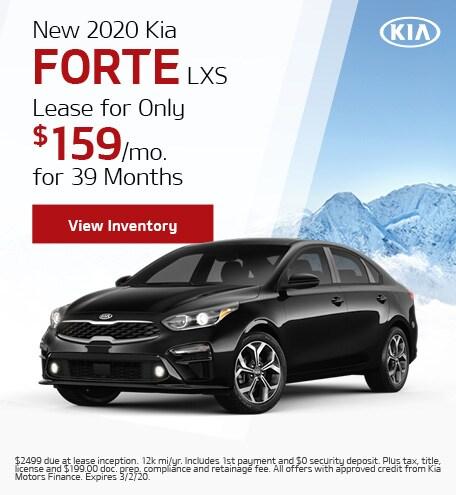 2020 Kia Forte LXS - Lease