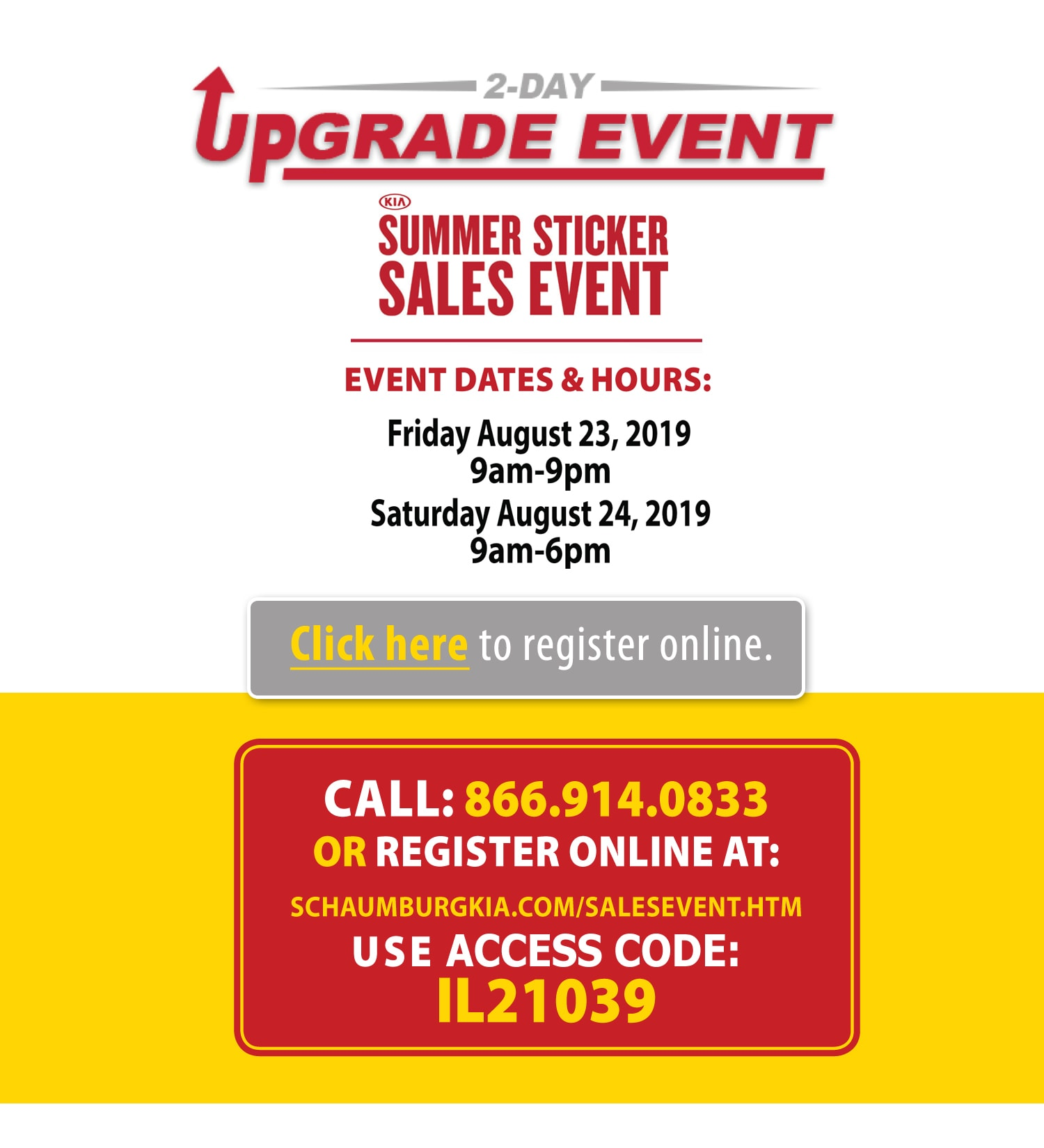 2-Day Upgrade Event - Summer Sticker Sales Event