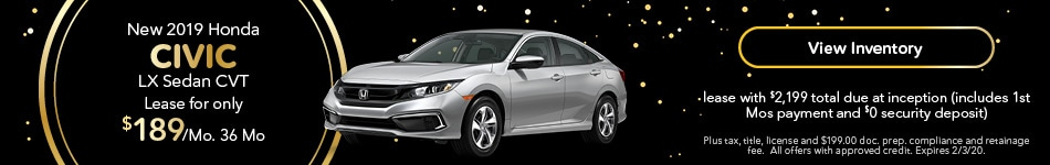 2019 Honda Civic - Lease