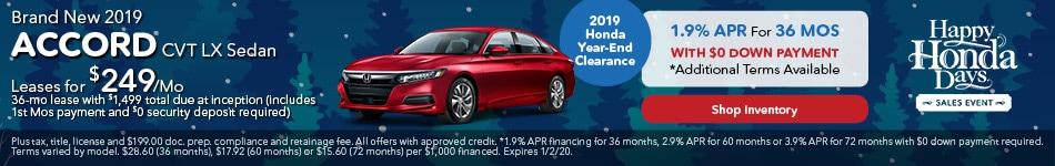 2019 Honda Accord CVT LX Sedan