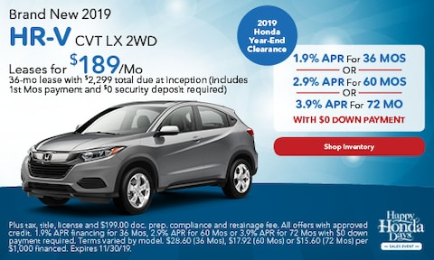 Brand New 2019 HR-V CVT LX 2WD