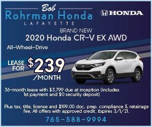 Brand New 2020 Honda CR-V EX AWD
