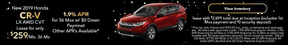 2019 Honda CR-V - Lease & APR