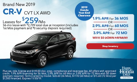 Brand New 2019 CR-V CVT LX AWD