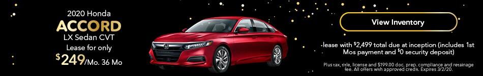 2020 Honda Accord - Lease