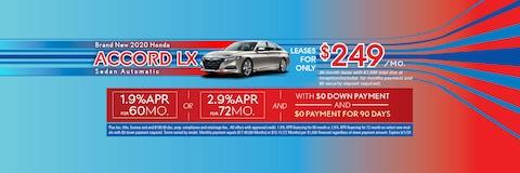 BRAND NEW 2020 Honda Accord LX Sedan