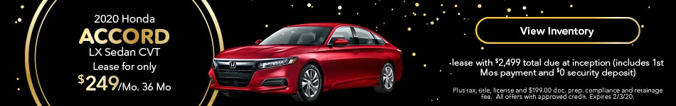 2020 Honda Accord - Lease