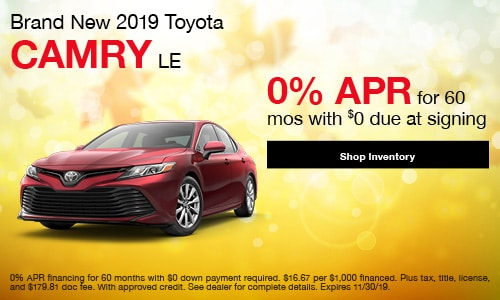 2019 Toyota Camry LE - APR