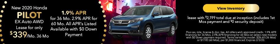 2020 Honda Pilot EX Auto AWD - Lease Offer