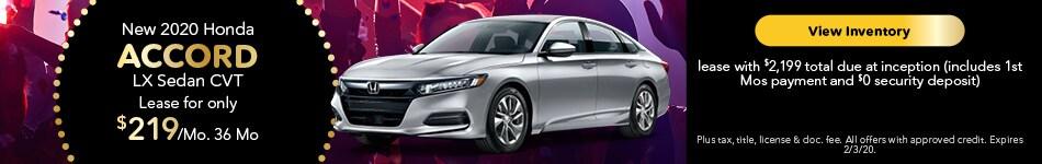 2020 Honda Accord LX Sedan CVT - Lease Offer