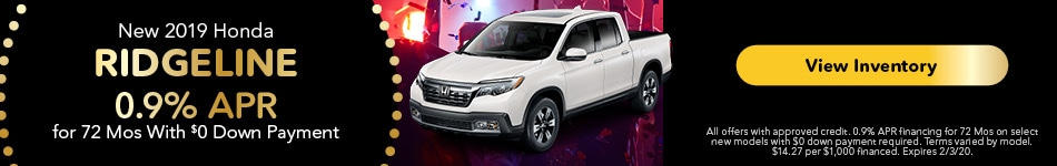 2019 Honda Ridgeline - APR Offer