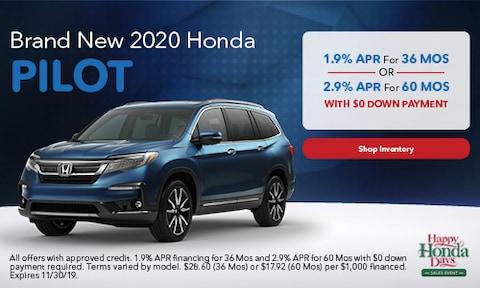 2020 Honda Pilot - Finance