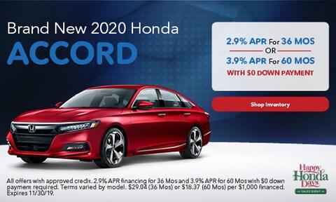 2020 Honda Accord - Finance