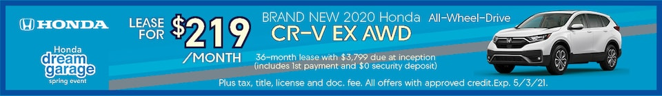Brand New 2020 Honda CR-V EX AWD All-Wheel-Drive