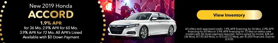 2019 Honda Accord - APR Offer
