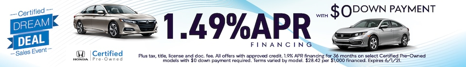 1.49% APR Financing