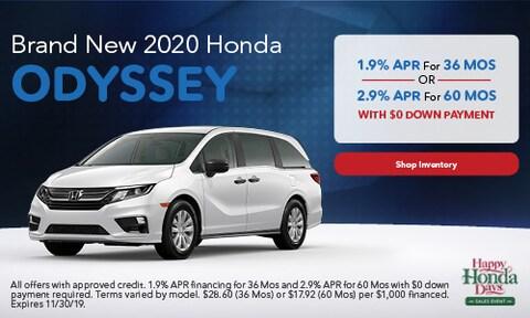 2020 Honda Odyssey - Finance